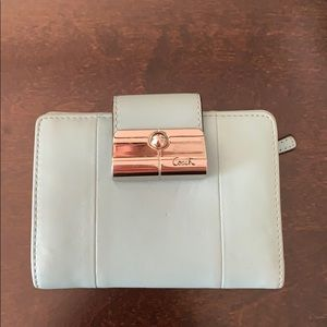 SMALL TEAL COACH WALLET